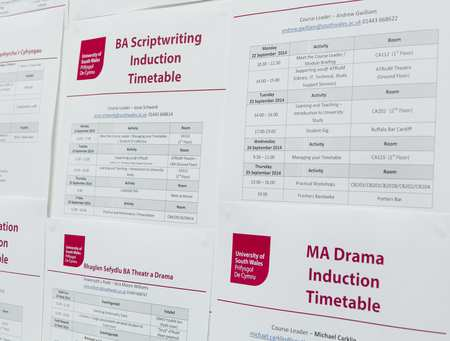 induction timetable