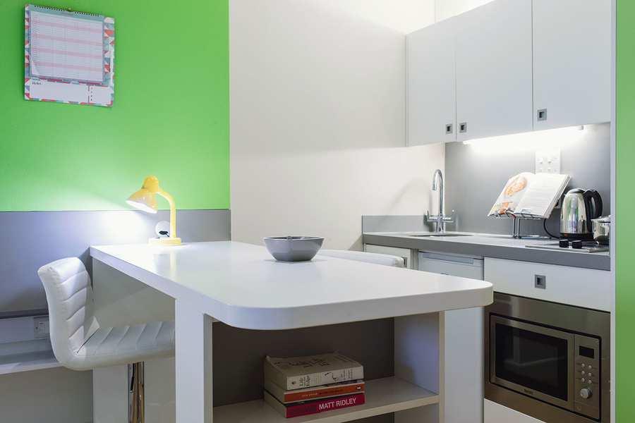 Liberty Gardens Premium studio kitchen