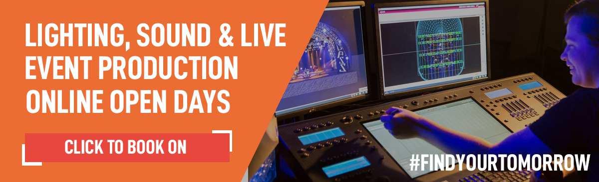 Lighting Sound Live Online Open Day