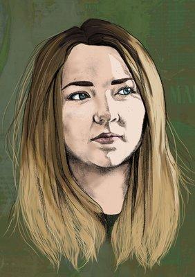 Self portrait by Joley Dean, BA (Hons) Illustration student