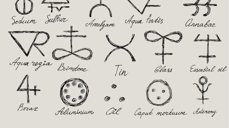 Science and magic - alchemy symbols