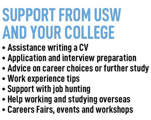 support from usw and college