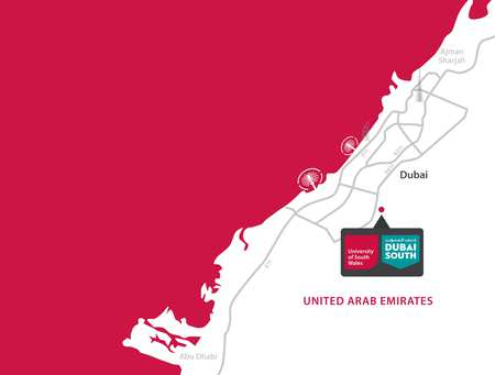 USW Dubai: Location